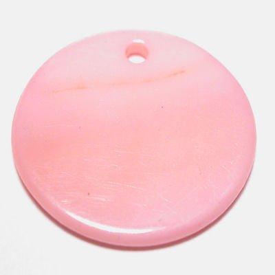 parelmoer hanger rond l.roze 20 mm