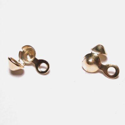 knijpkalotjes goud 4 mm