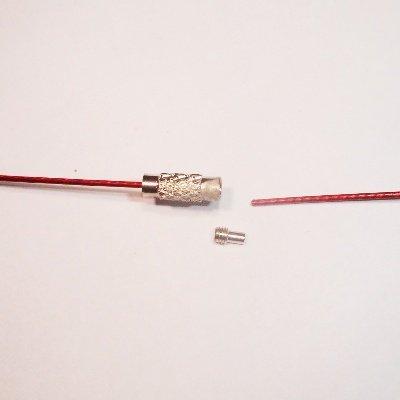 sprang ketting rood 1 mm