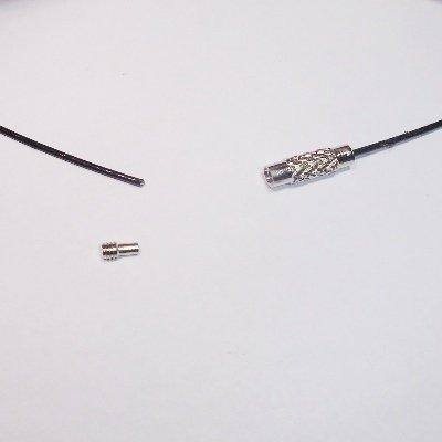 sprang ketting zwart 1 mm