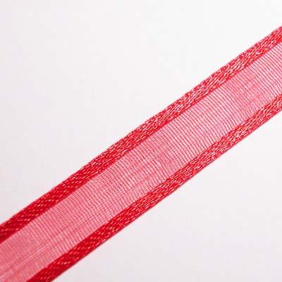 organza lint 10 mm rood