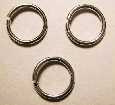 ring rond zilver 7 mm, 1 mm dik