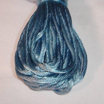 Satijnkoord, 2 mm, turquoise