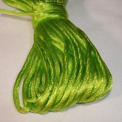 Satijnkoord, 2 mm, l.groen