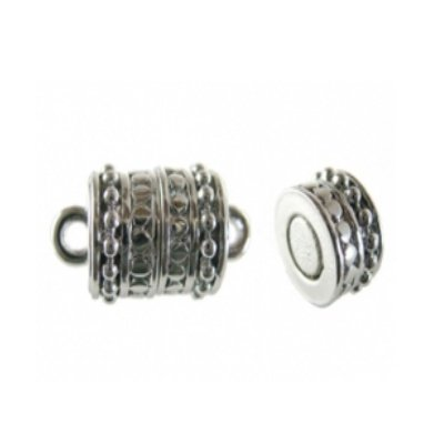 magneetsluiting tube zilver 9 x 12 mm
