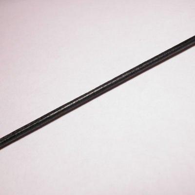 rond runderleer zwart 2 mm