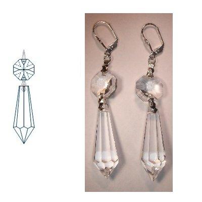 kristal oorbellen 75 mm cristal