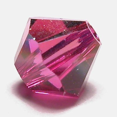 swarovski facet 4mm fuchsia AB