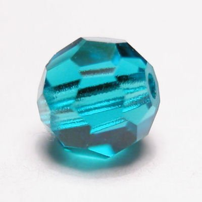 swarovski rond  4mm blue zircon