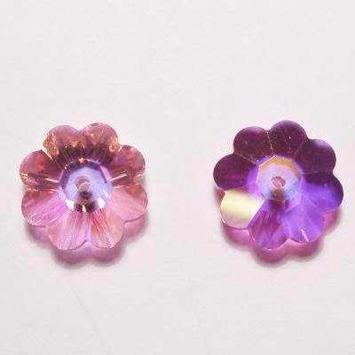 swarovski schijf bloem rose 10 mm