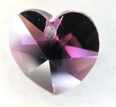 swarovski hanger hart paars 10 mm