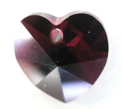 swarovski hanger hart siamrood 10 mm