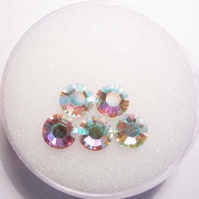 swarovski plaksteen rond crystalAB 6 mm
