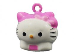metalen belletje hello kitty 21x18 mm