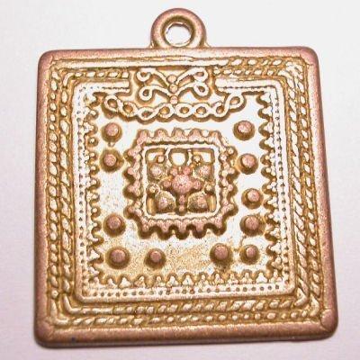 ethnic vierkant mat goud 32 mm