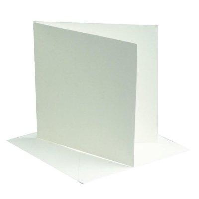kaart vierkant off-white 12,5x12,5 cm