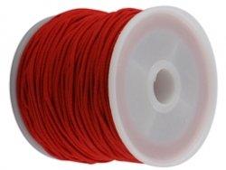 elastisch draad/stiek 1 mm rood