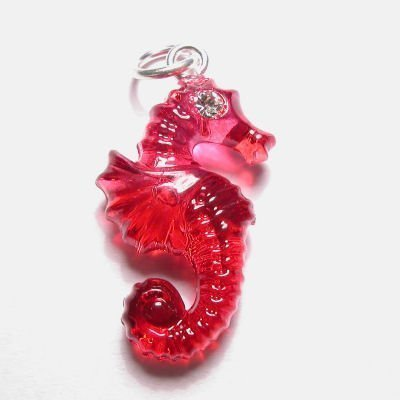acryl zeepaardje rood 15x22 mm
