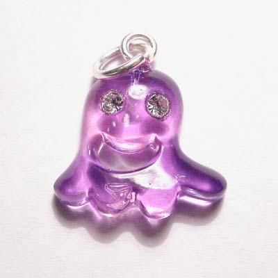 acryl spookje paars lila 15x16 mm