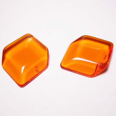 acryl ruit oranje 28 mm