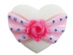 cabochon hart roze-wit