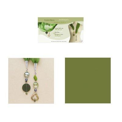 sjaal juweel kit 52x150 cm groen