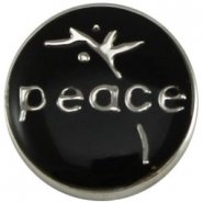Easy button peace zwart