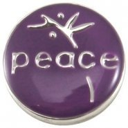 Easy button peace paars