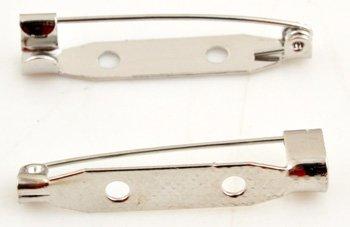 brochespeld zilver 32 mm