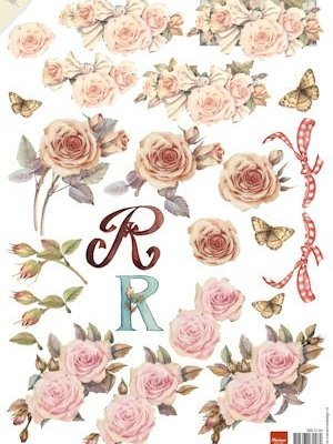 knipvel vintage roses