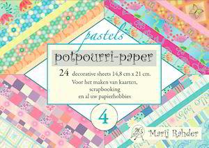 Potpourri paper boekje pastels 15 x 21 cm