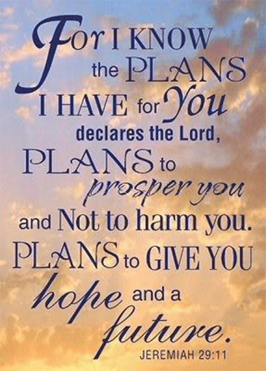 I know the plans I have for you, says the Lord
