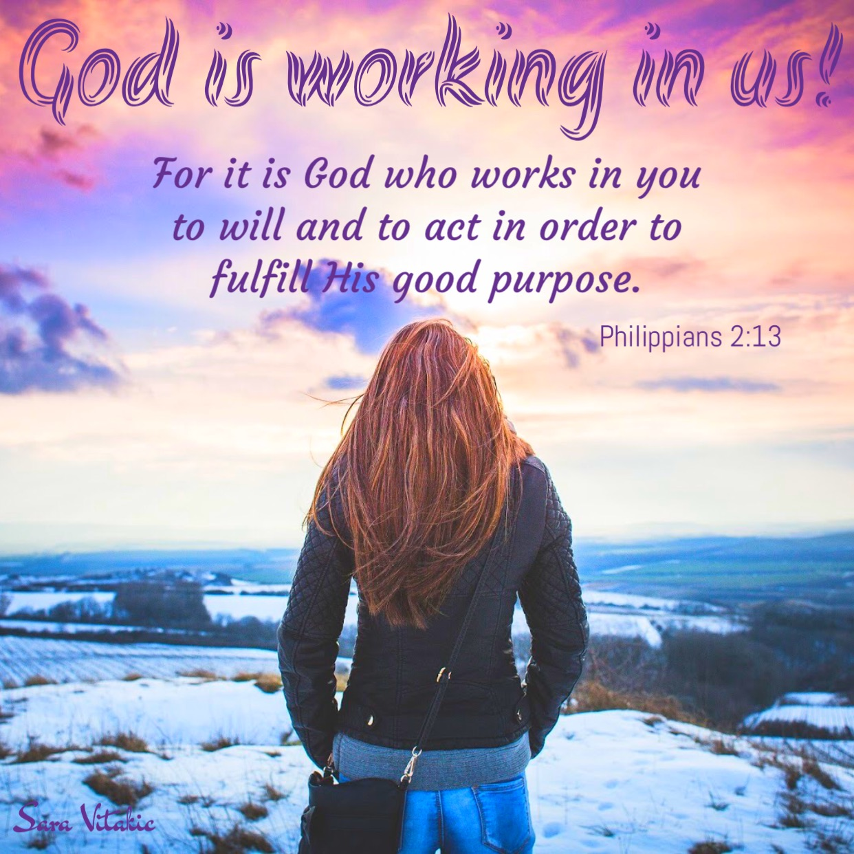 God is working in us