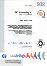 Kramas statyba certificate 14001_2018_002
