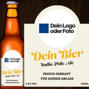 Deine Bier Etikette nach Wunsch gestaltet.