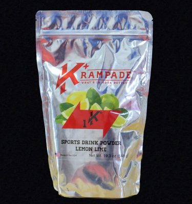 Krampade 1K lemon lime electrolyte replacement powdered sports drink