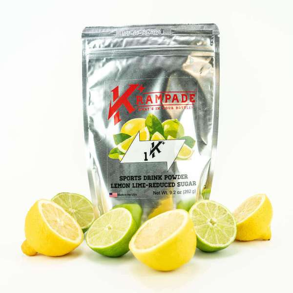 Krampade Original 1K reduced sugar lemon lime flavor, 19 serving resealable pouch, 1000 mg of potassium per serving, designed for elderly and nighttime leg and foot cramps.