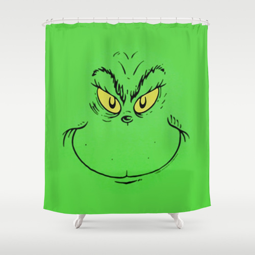 How The Grinch Stole Christmas Shower Curtain Krampus