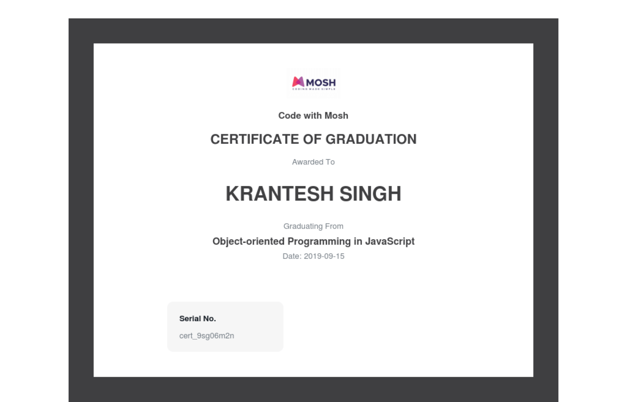 certificate-of-completion-for-object-oriented-programming-in-javascript