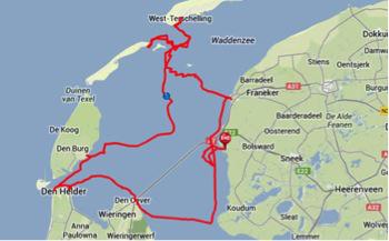 Mapa plavby.
