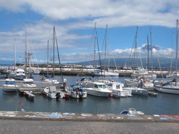 Marina Horta, v pozadí Pico.