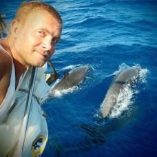 Delfíni a já.