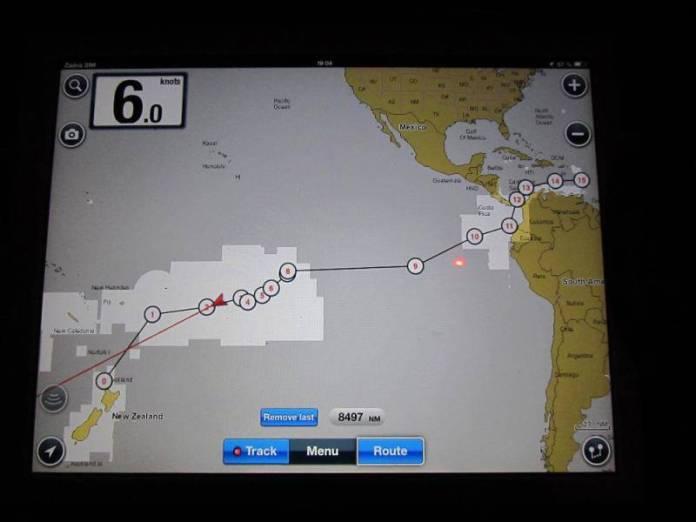 Trasa z Panamského průplavu.