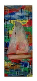 olej na plátně na rámu, 50x20cm