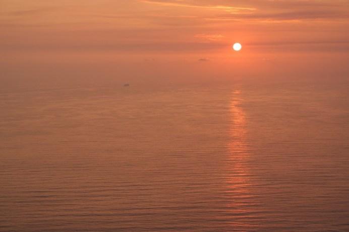 Západ slunce ze Stromboli