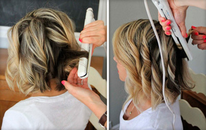 বাড়িতে hairstyle.