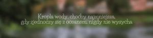 Kropla wody, choćby najmniejsza, gdy zjednoczy się z oceanem, nigdy nie wysycha – przysłowie hinduskie