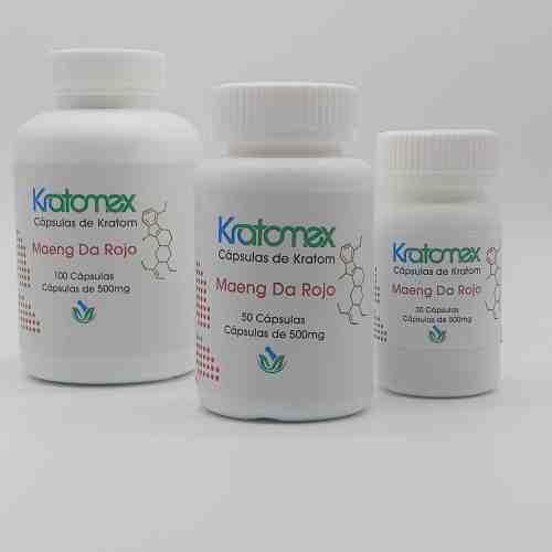 Kratomex Capsulas de Maeng Da Rojo