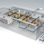 Transparente Fabrik zur Darstellung des Lüfterkreislaufs
