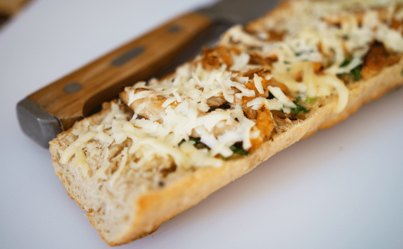 Crab and Parsley Garlic Bread